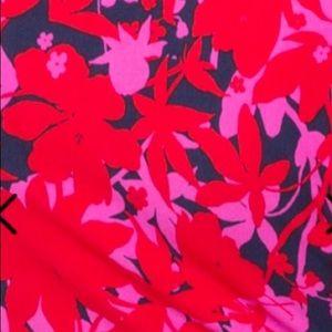 Leota Dresses - Leota Plus Size Sweetheart Neck Pink and Red Dress
